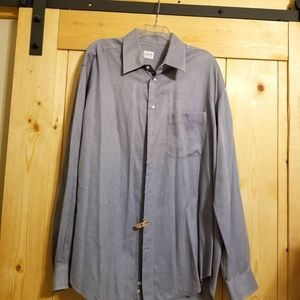 Armani Collection Pin Stripe Button Up LS